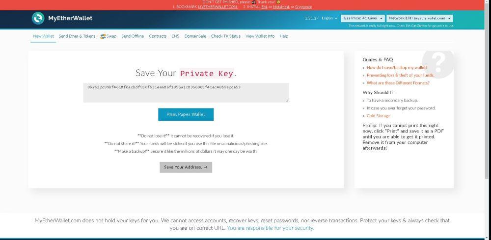 private key speichern