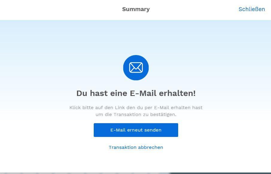 E-Mail verifizieren