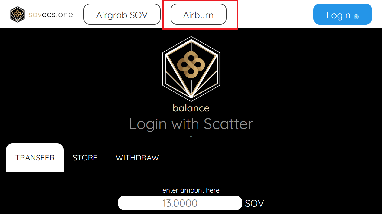 SOV cryptocurrency