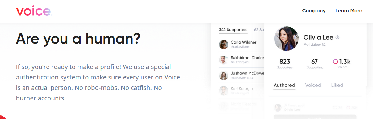 Voice Homepage