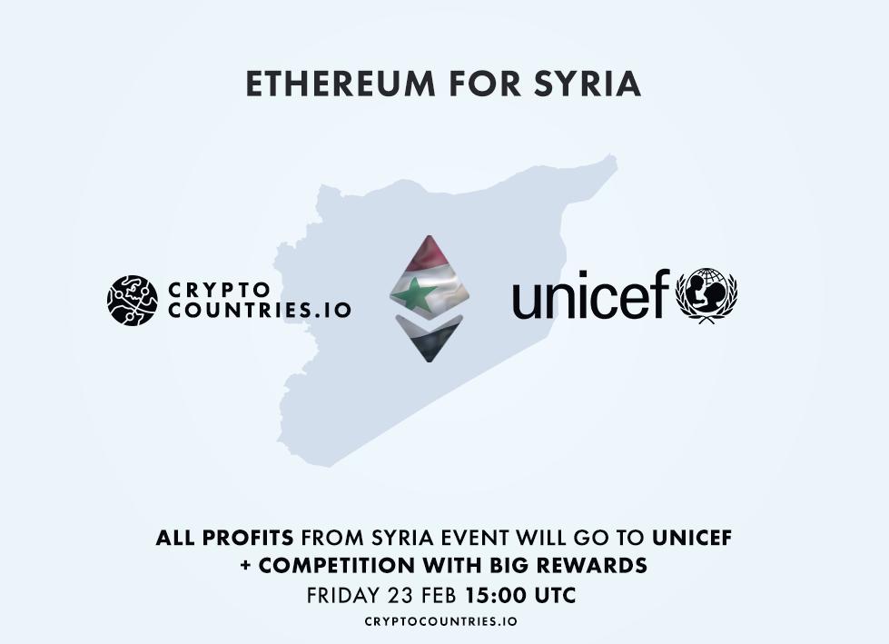 cryptocountries unicef syria ethereum blockchain