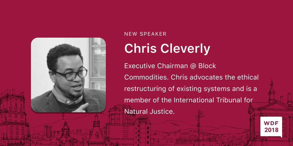 Chris Cleverly, Executive Chairman, Block Commodities. Chris is a forward thinking advocate of the ethical restructuring of existing systems. He is a member of the International Tribunal for Natural Justice https://www.itnj.org/. His other projects include blockchain lending solutions for sub-saharan African farmers which intend to allow them to circumvent the inherent volatility of local currencies and fund their businesses by offering credit with fixed and affordable interest rates on necessities such as fertilizers and seeds, provided by AAA rated corporations.