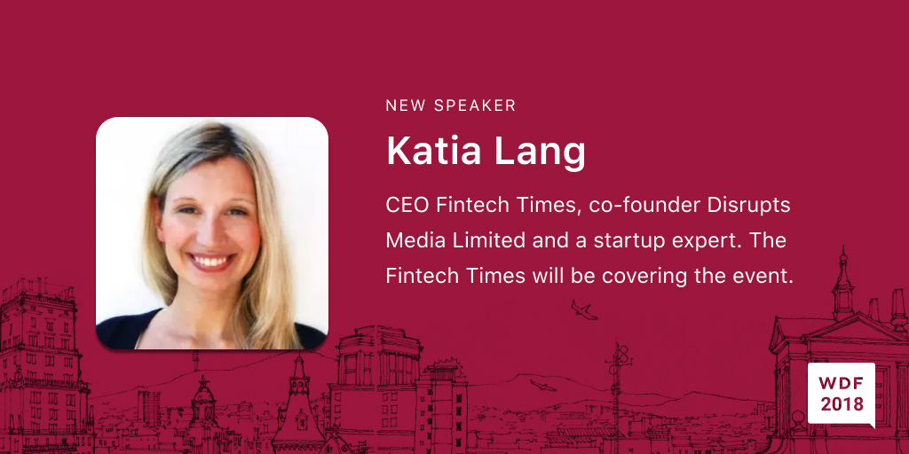 Katia Lang, CEO, Fintech Times, an international newspaper reporting on the world of business, finance, and technology, co-founder of Disrupts Media Limited and a startup expert. Disrupts Media owns several established b2b media brands and operates 6 online and 2 print media titles; The Fintech Times newspaper and Disrupts Magazine. The Fintech Times will also be covering the event. https://thefintechtimes.com/