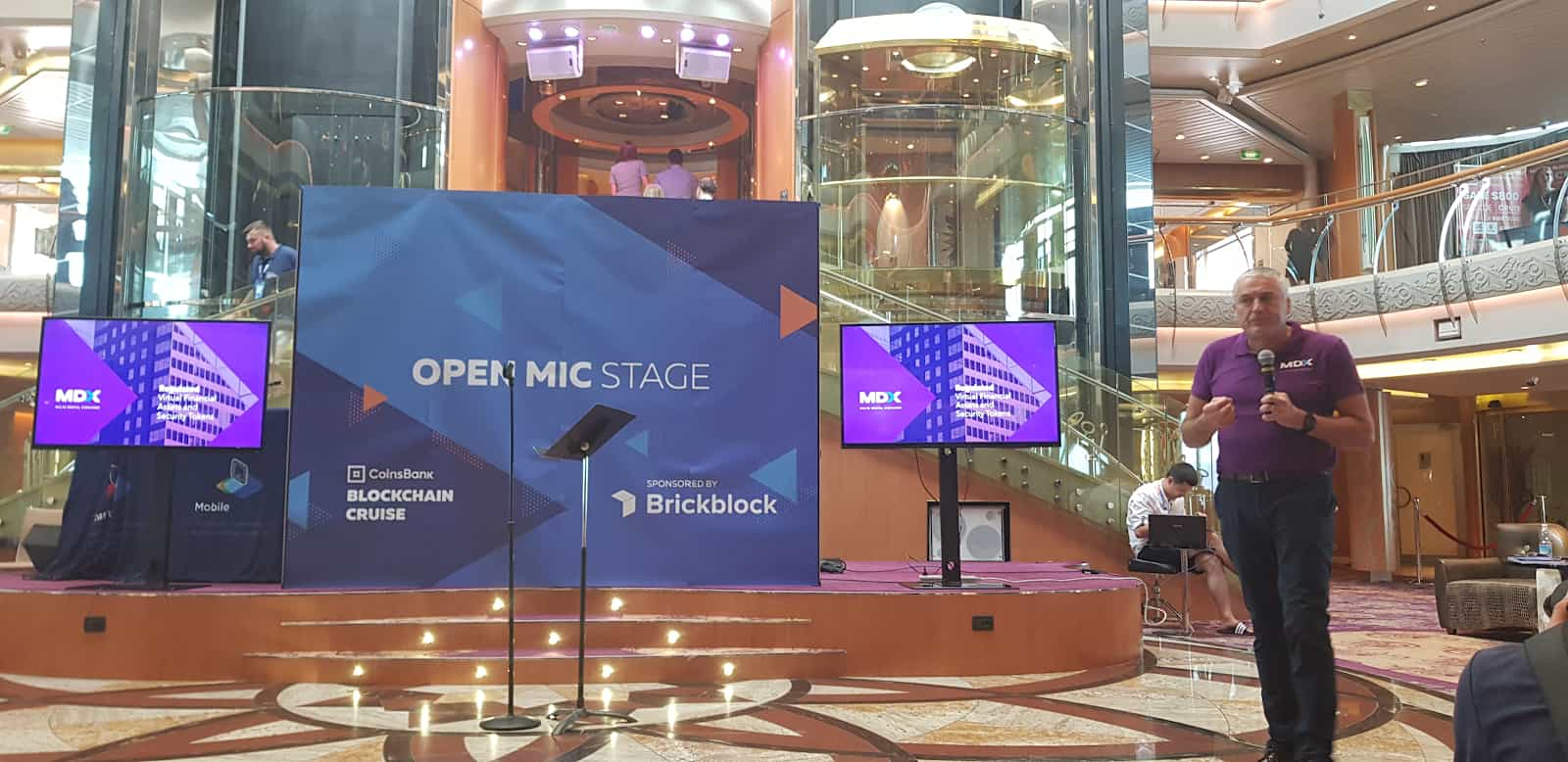 The open mic stage arranged by CoinsBank