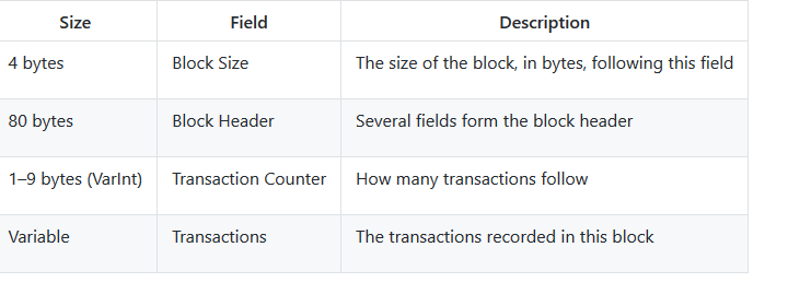 What is the Blockchain data structure?