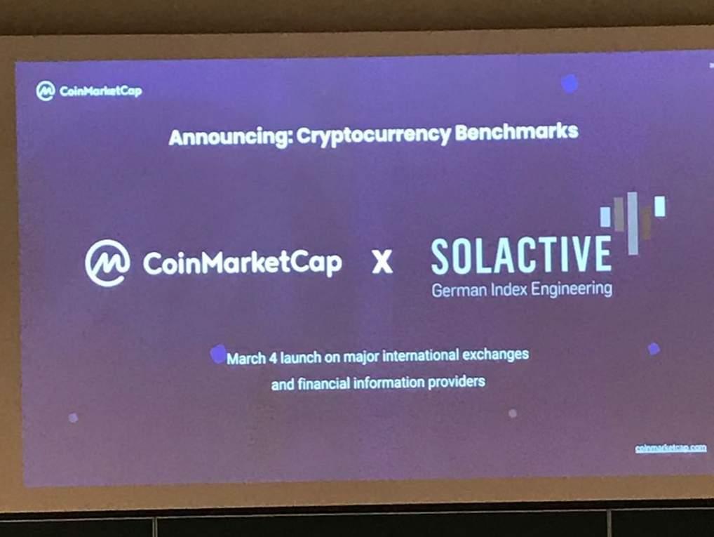Coinmarketcap and Solactive Introduce Crypto Indexes