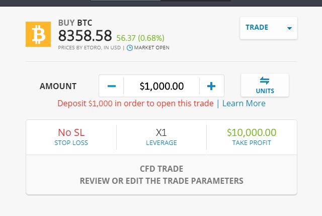 etoro buy bitcoin the rock trading come funziona